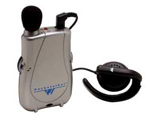 Williams Sound Pocketalker with Widerange Earphone Personal Amplifier