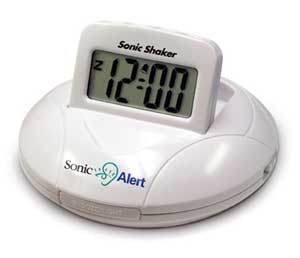 Sonic Shaker SBP100 Portable Travel Alarm Clock