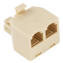 Duplex Modular Telephone Adapter (y-jack) (CLONE)